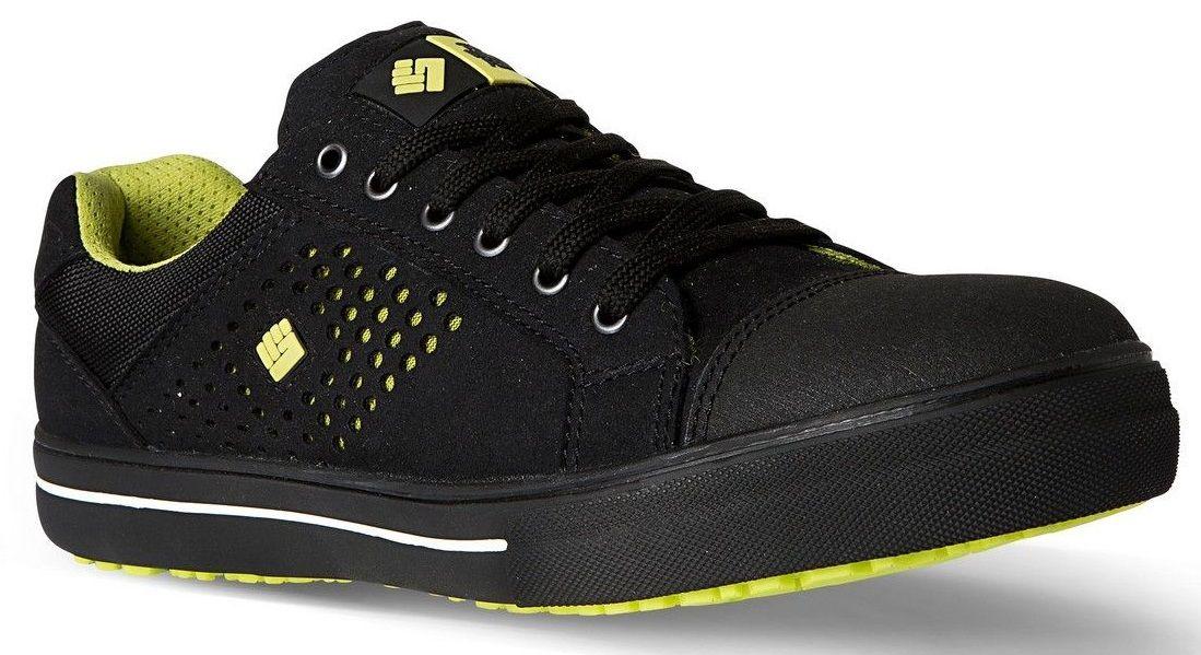 2w4 sicherheitsschuhe sneaker sportlich leicht s1p schwarz neon luftig ebay. Black Bedroom Furniture Sets. Home Design Ideas